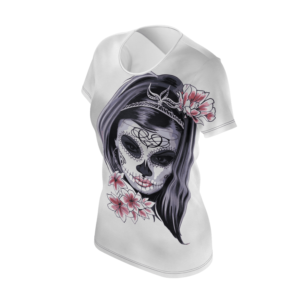 Skull Woman T-Shirt for Woman (Halloween Edition)