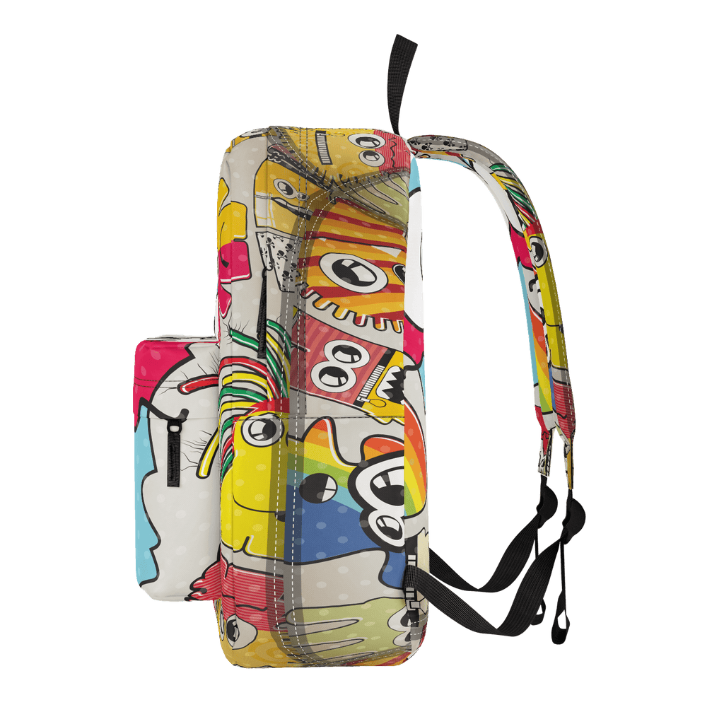 School Bus Aliens Backpack 16
