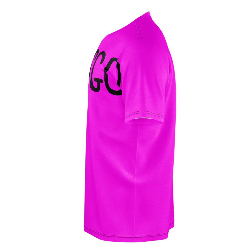 #LetsGo Men's T-Shirt (Hot Pink)