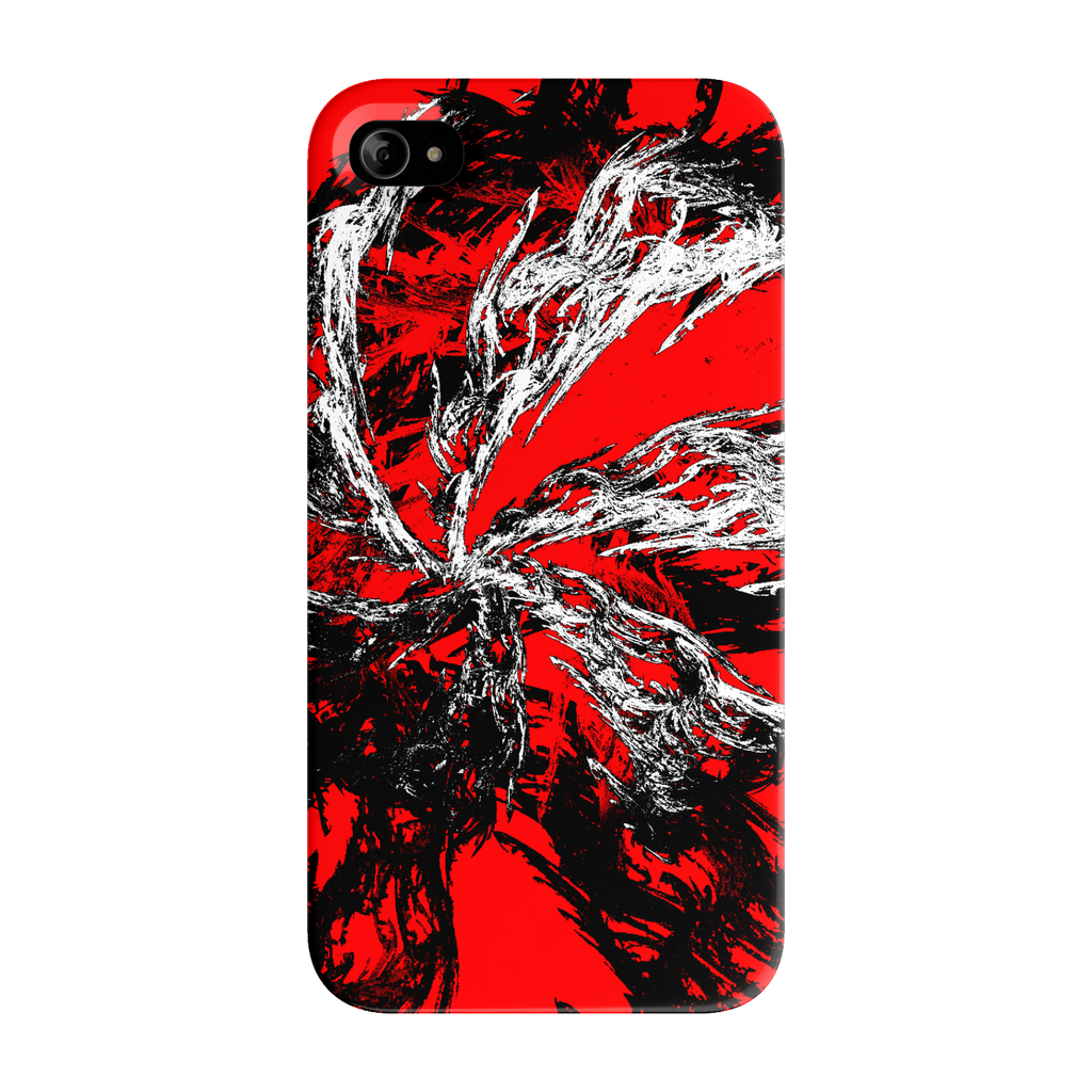 black red and white abstract