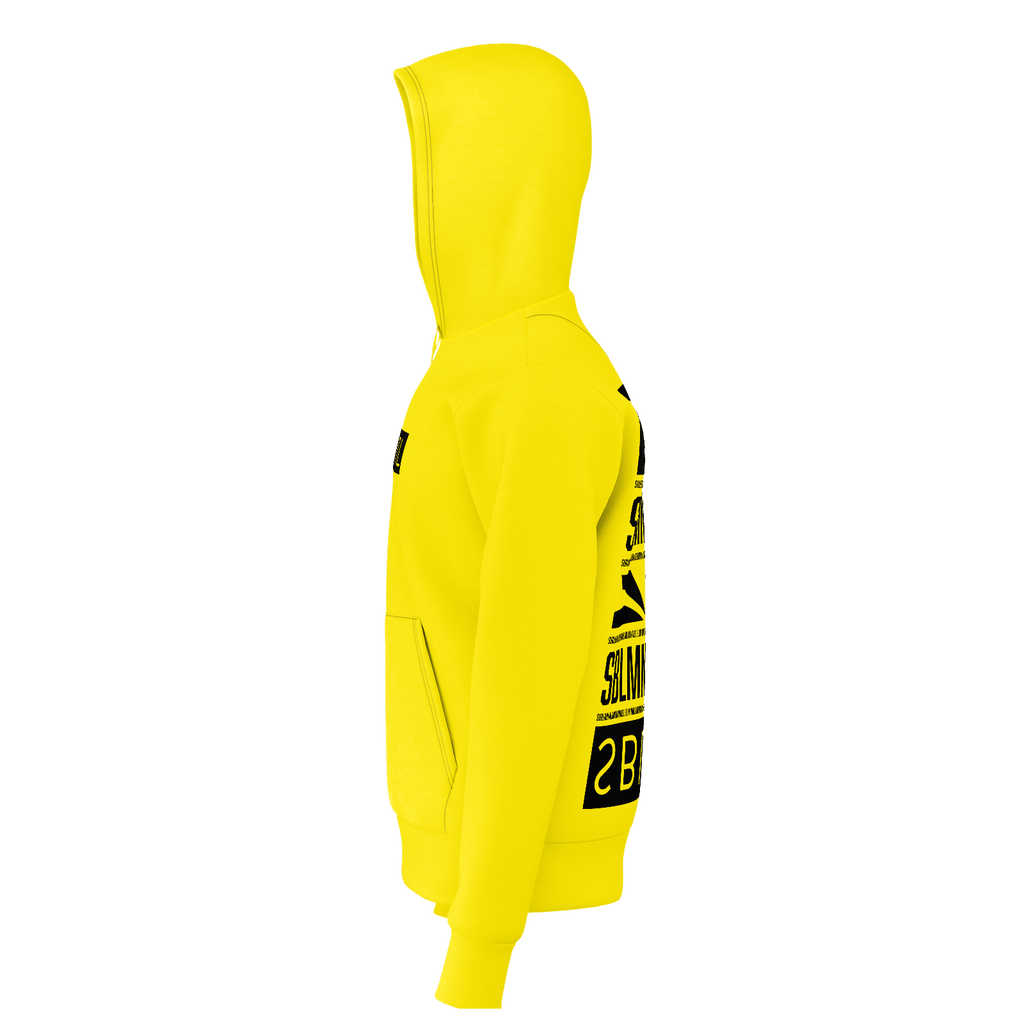 SUBLIMINAL Box Logo back graphic Hoodie (Yellow)