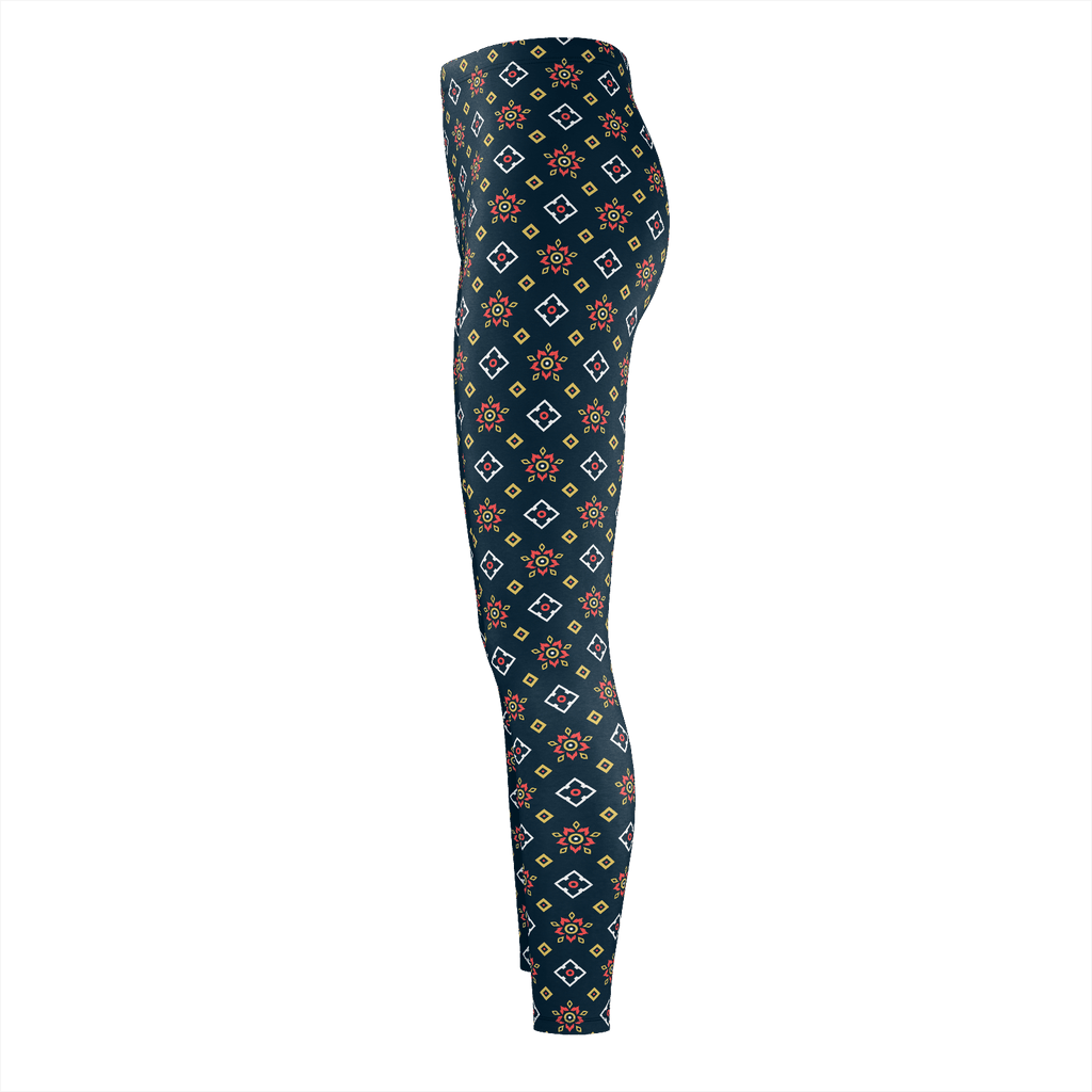 Floral On Blue Thai Pattern
