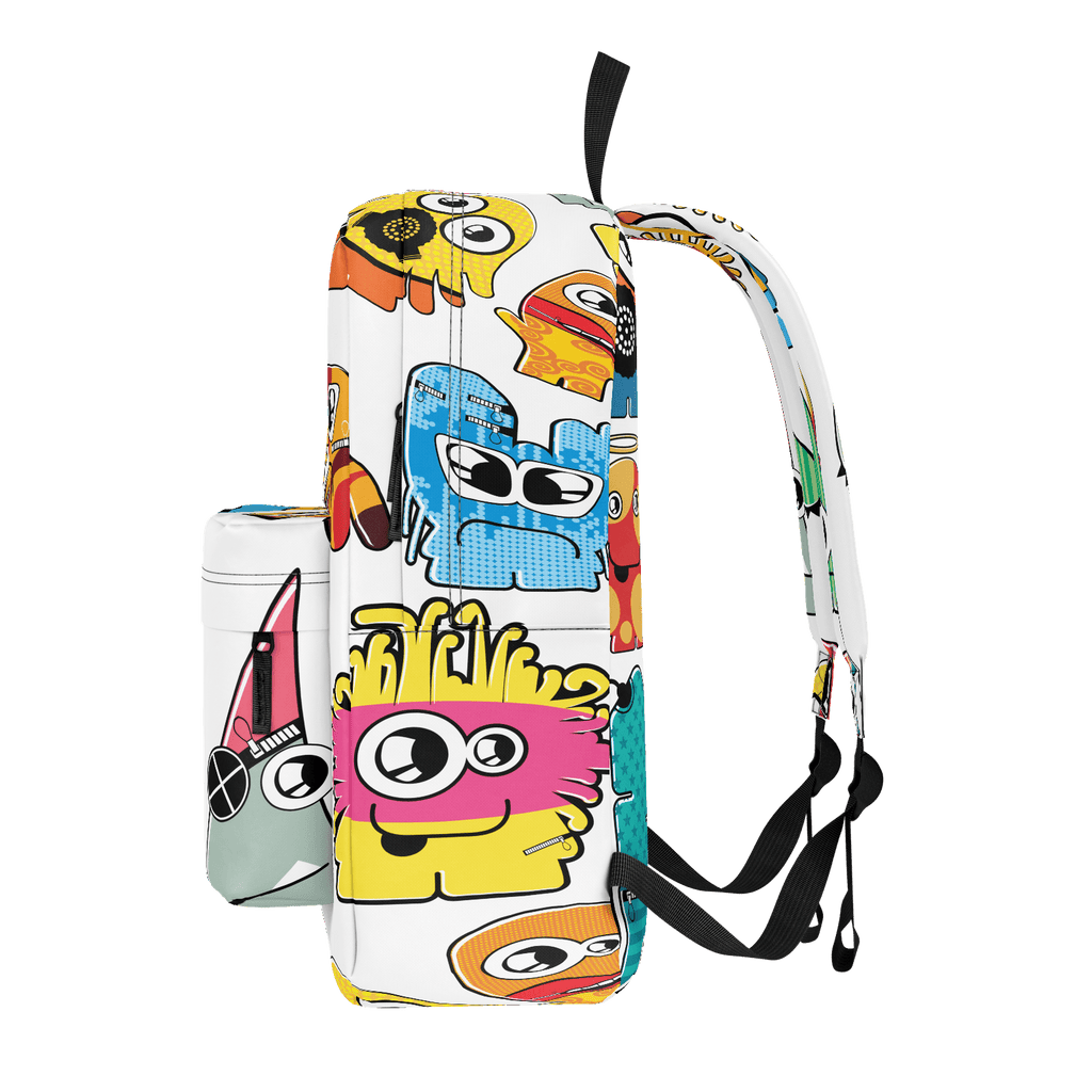 School Bus ALiens Backpack 20