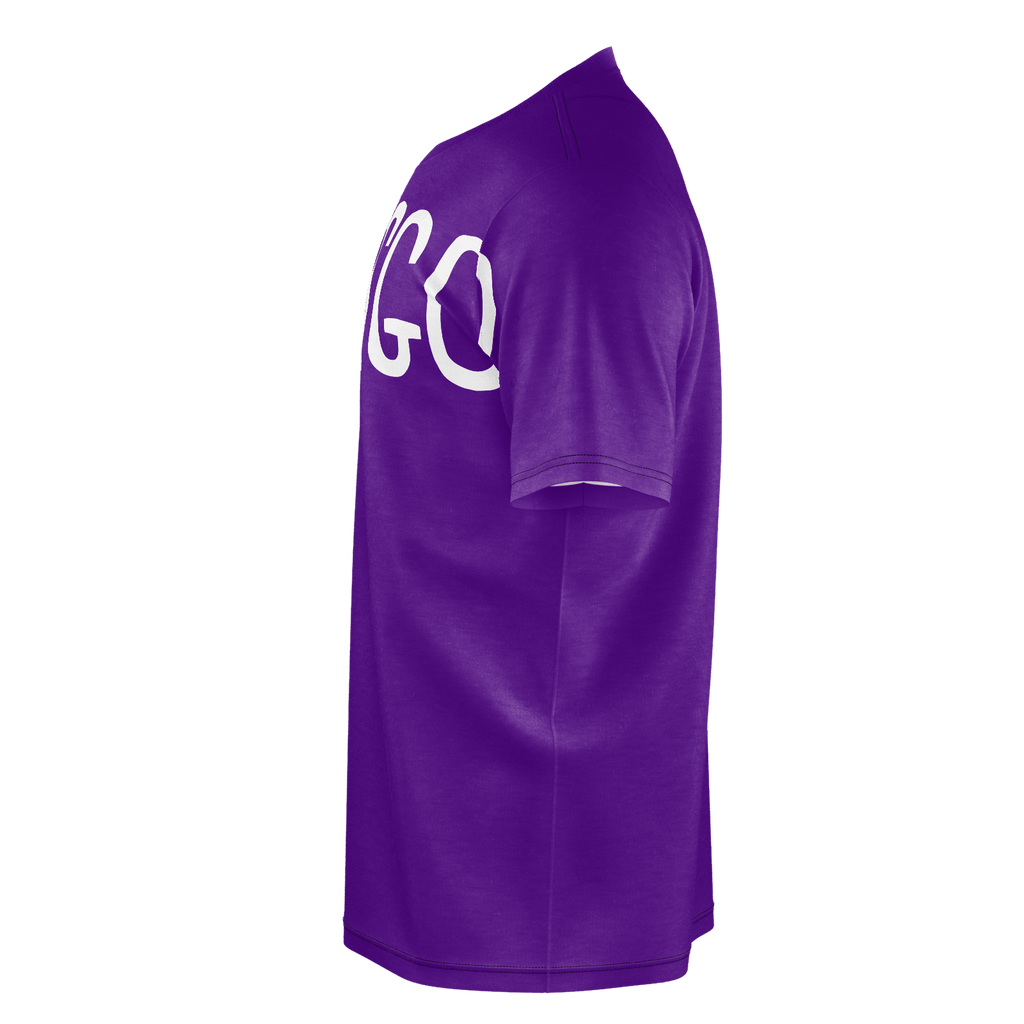 #LetsGo Men's T-Shirt (Purple)