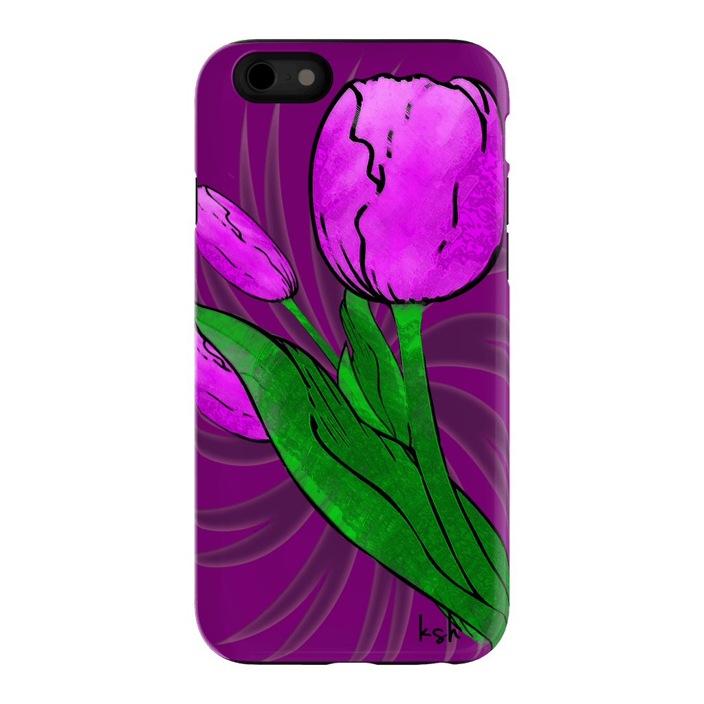 "ksh, ""Pink Tulips"", iPhone 6 Tough Case"