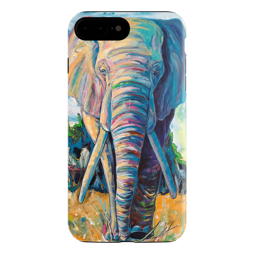 Blue WaterPaint Blue Elephant iPhone 7 Plus Case
