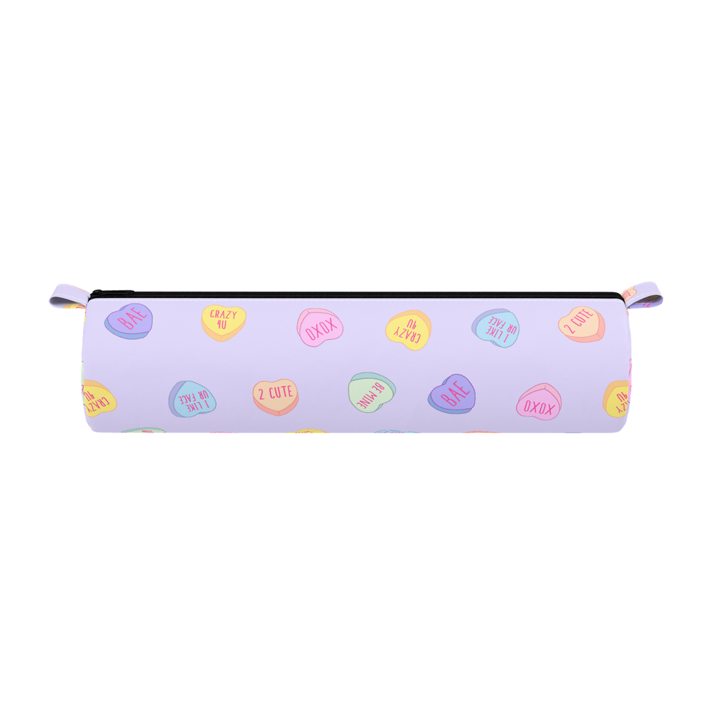 Purple Hearts Pencil Case