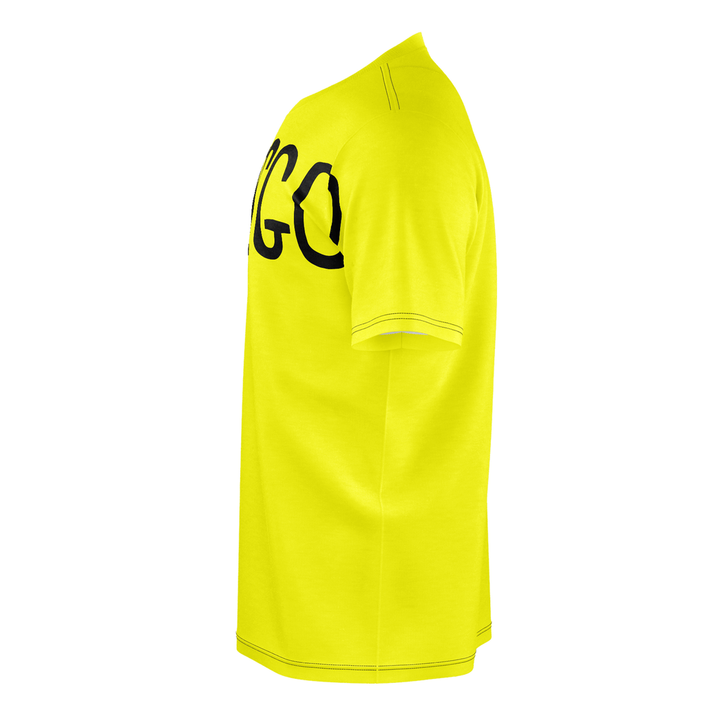 #LetsGo Men's T-Shirt (Bright Yellow)