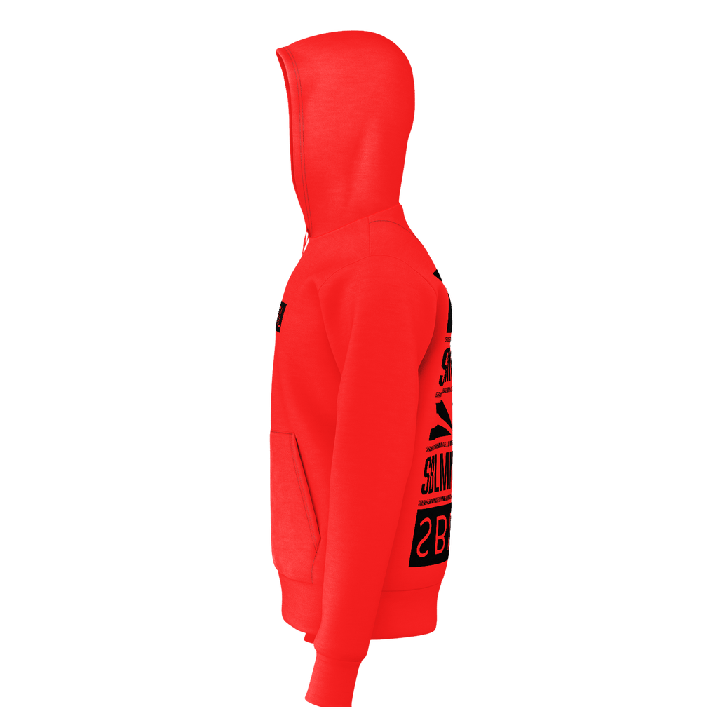 SUBLIMINAL Box Logo back graphic Hoodie (Red)