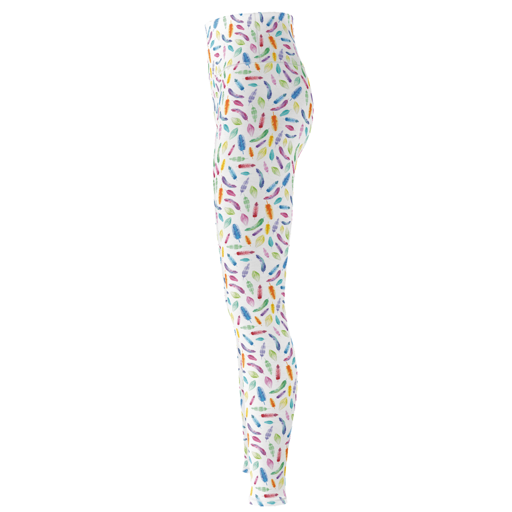 Watercolour Feather Yoga Pants