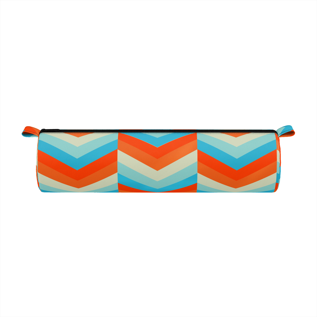 Beachy Chevron Pencil Case