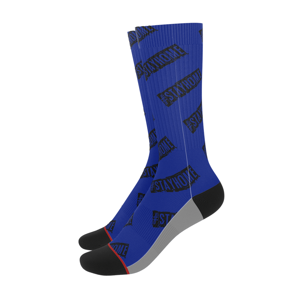 #StayHome Socks (Navy)