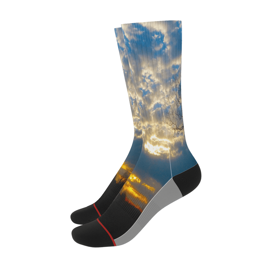 Country Sunrise Striped Socks