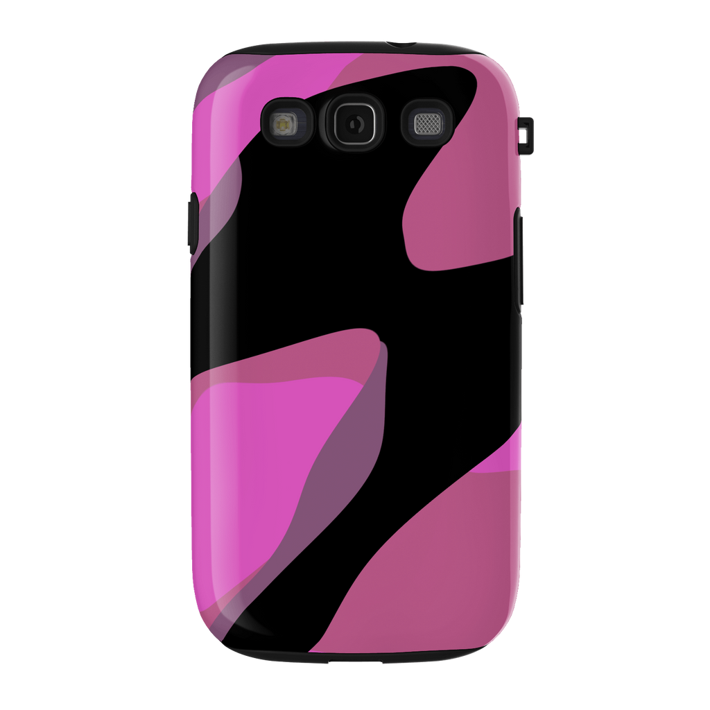 pink and black abstract