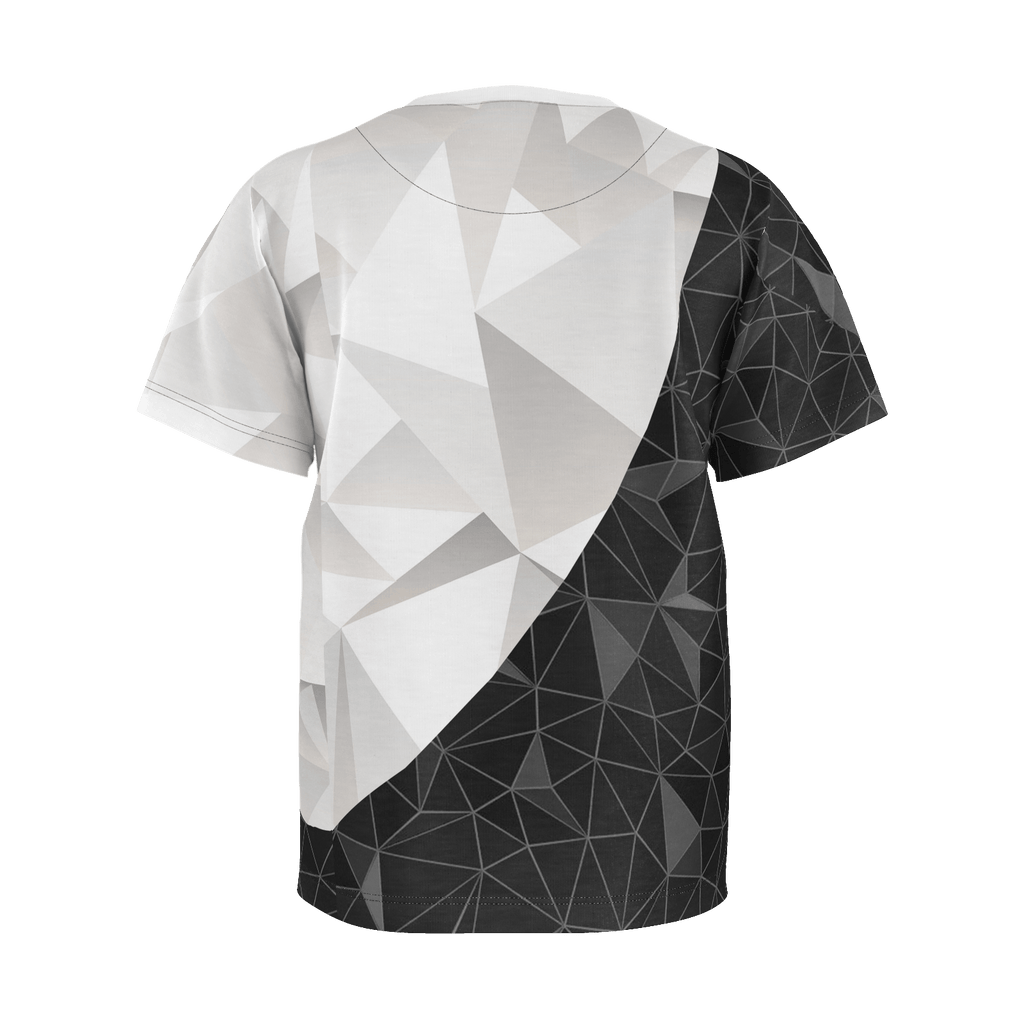 Black and White Triangles Boys Shirt