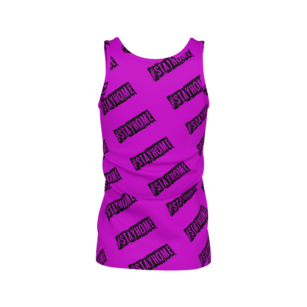 #StayHome Women's SJ Tank Top (Pink)
