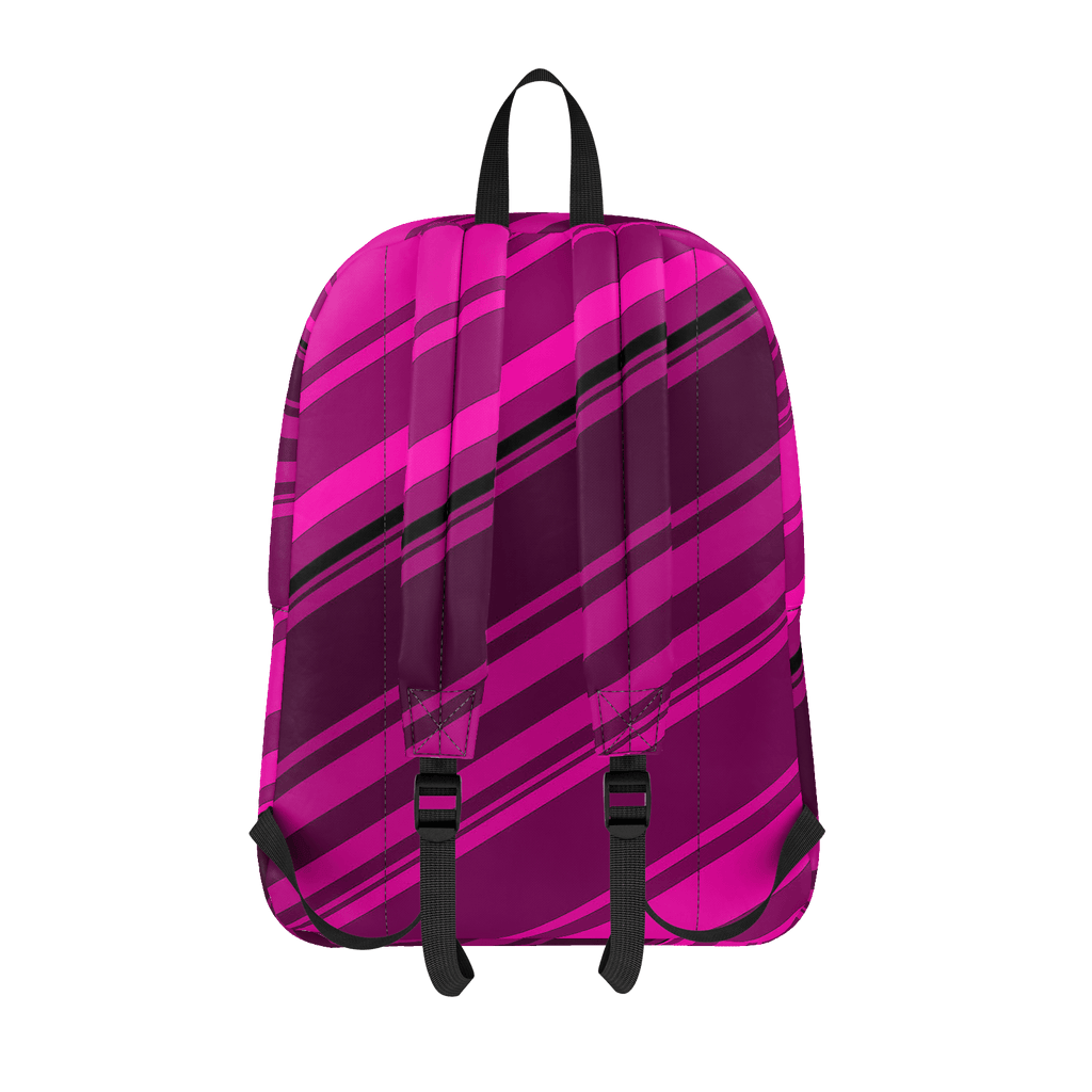 Black/Pink Diagonal Striped Classic Backpack