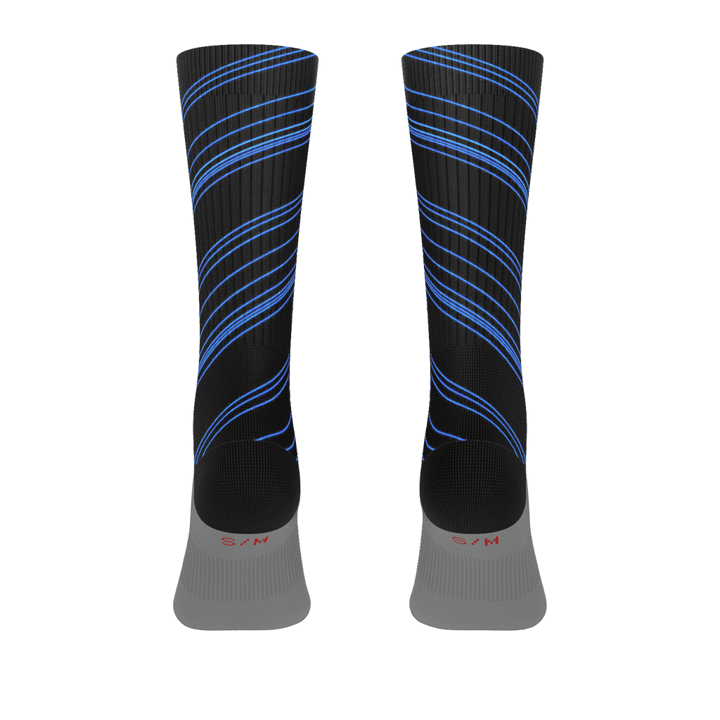 Blue/Black Diagonal Striped Socks