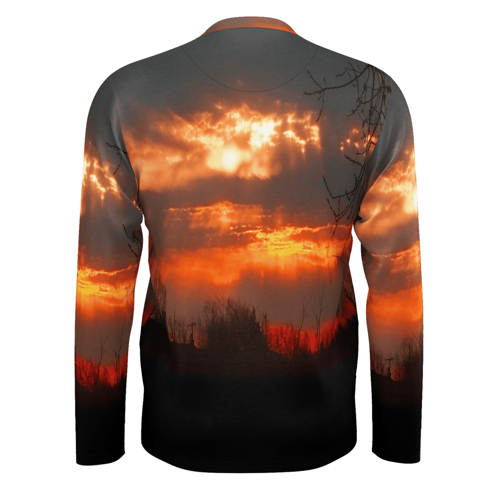 Red Sunrise Men's Long Sleeve SJ T-Shirt
