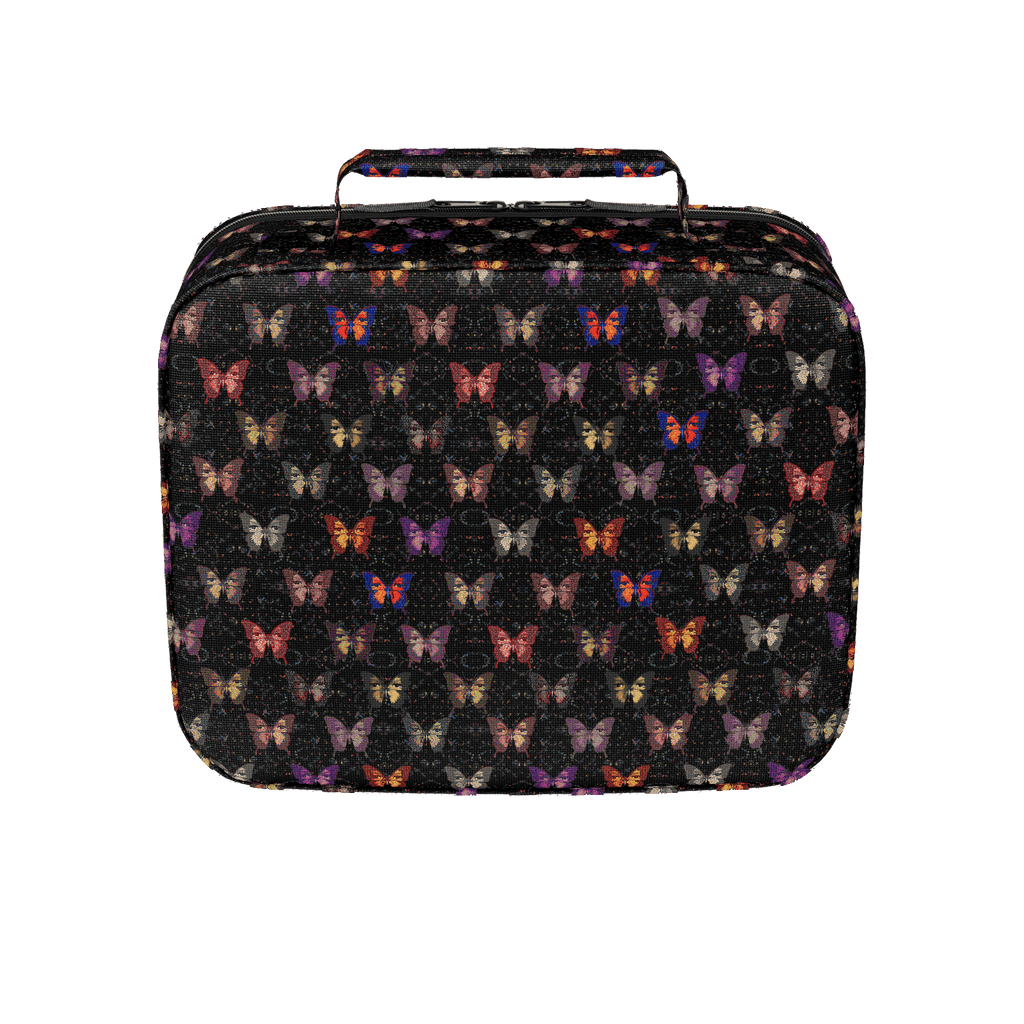 Butterfly Pattern Black Background - Lunch Box