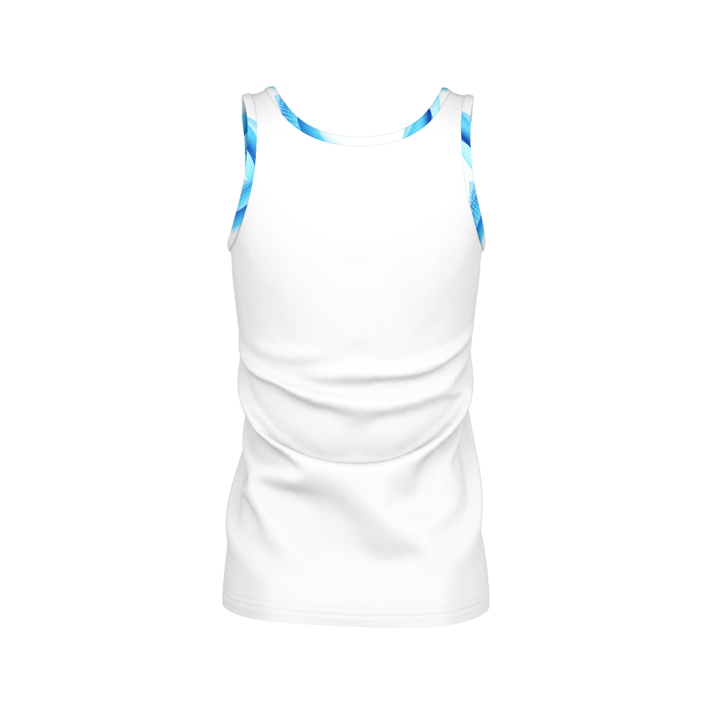 White /Abstract Yoga Tank