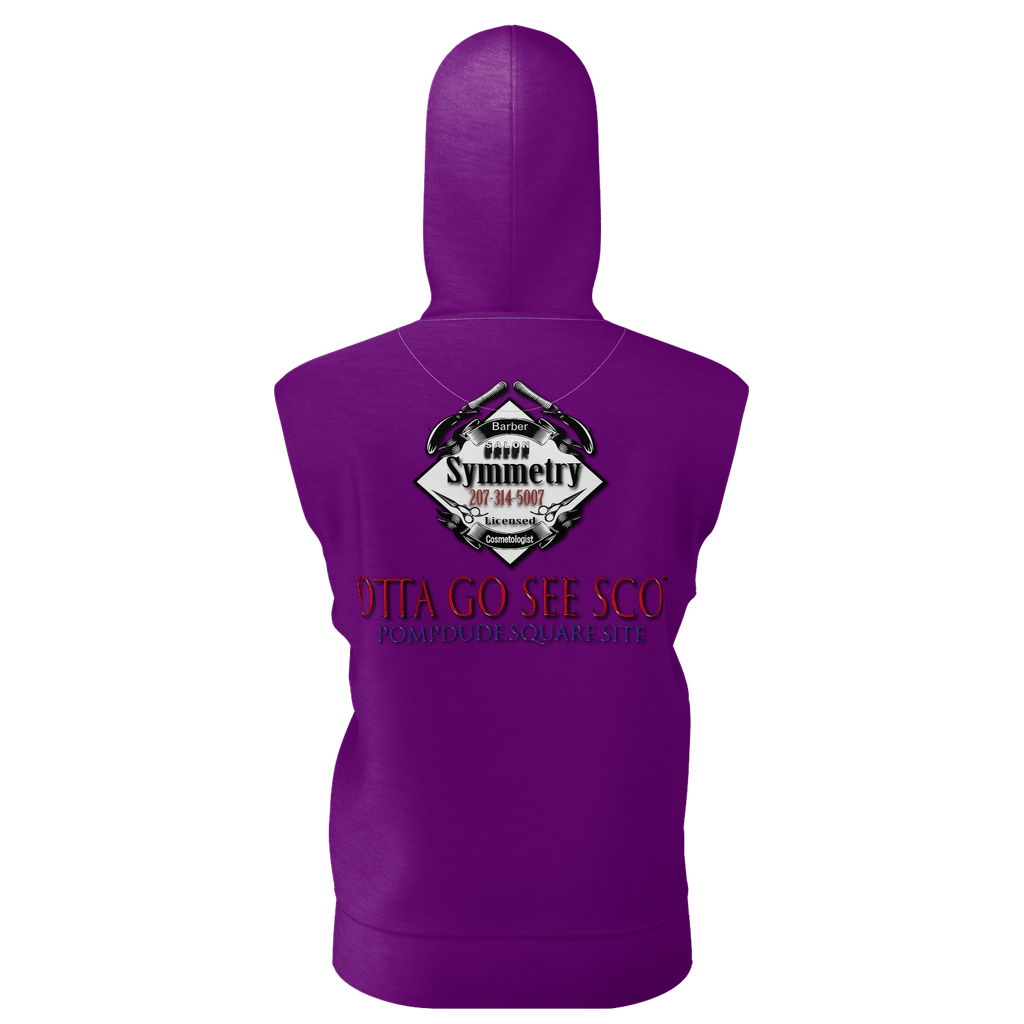 Women's Sleeveless Hoodie Purple