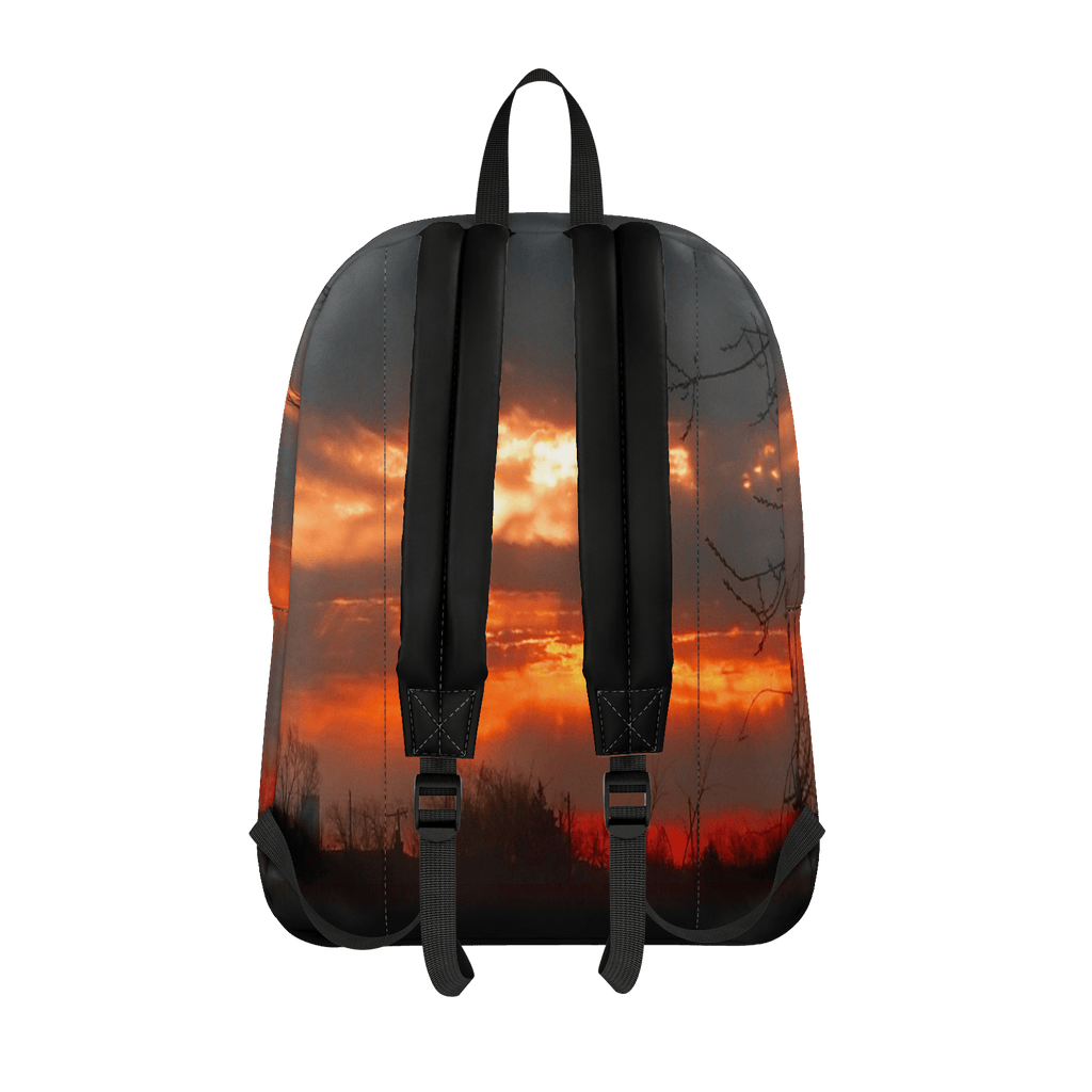 Red Sunrise (Poem) Classic Backpack