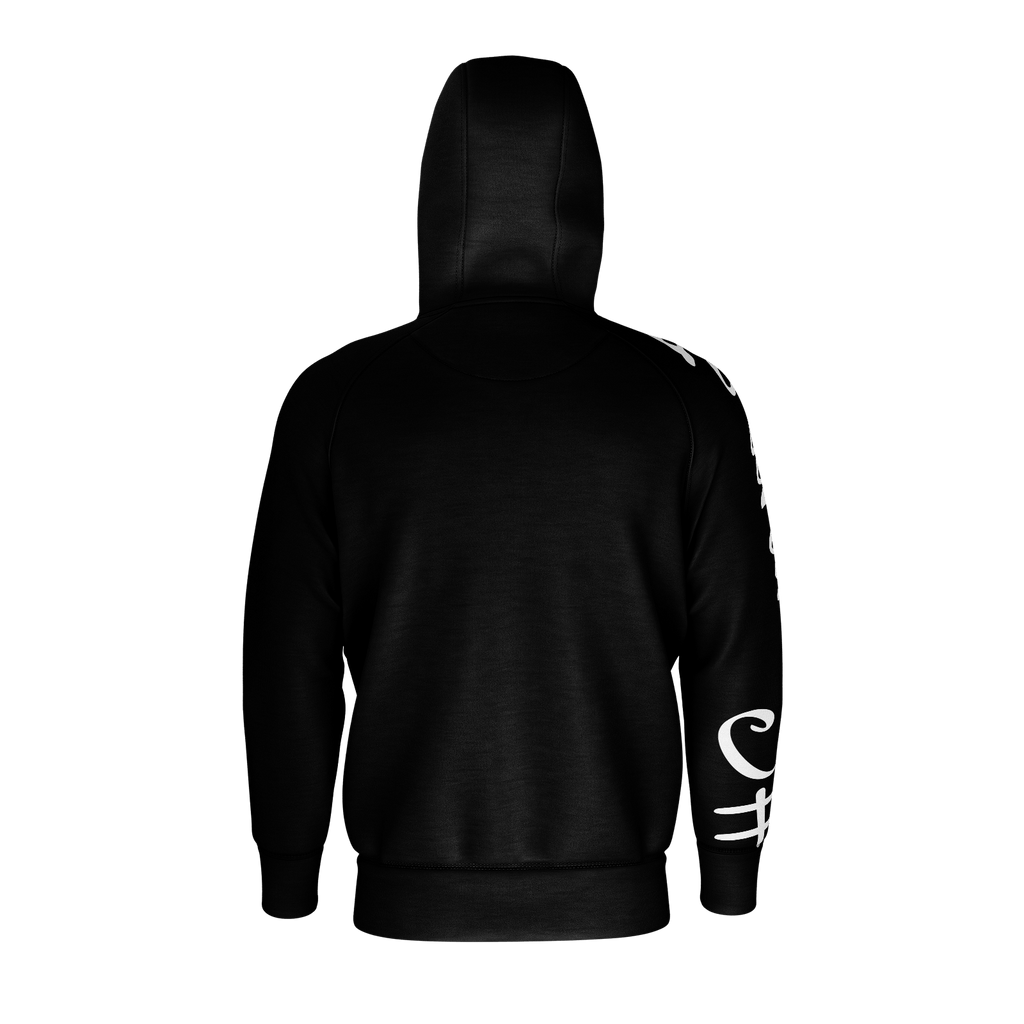 #Summer Men's Raglan Zip Hoodie 260GSM Cotton (Black)
