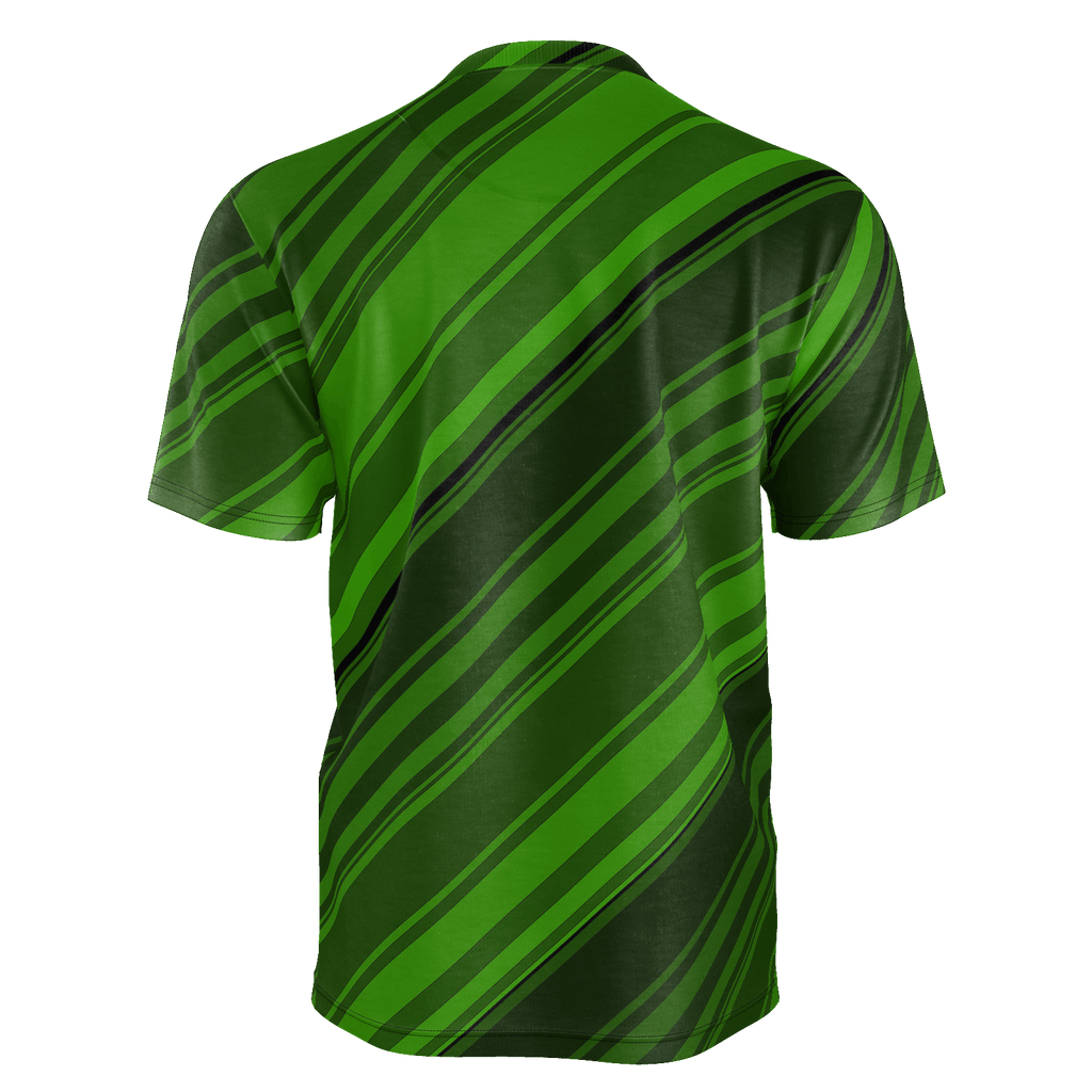 Black/Green Diagonal Striped Men's T-Shirt