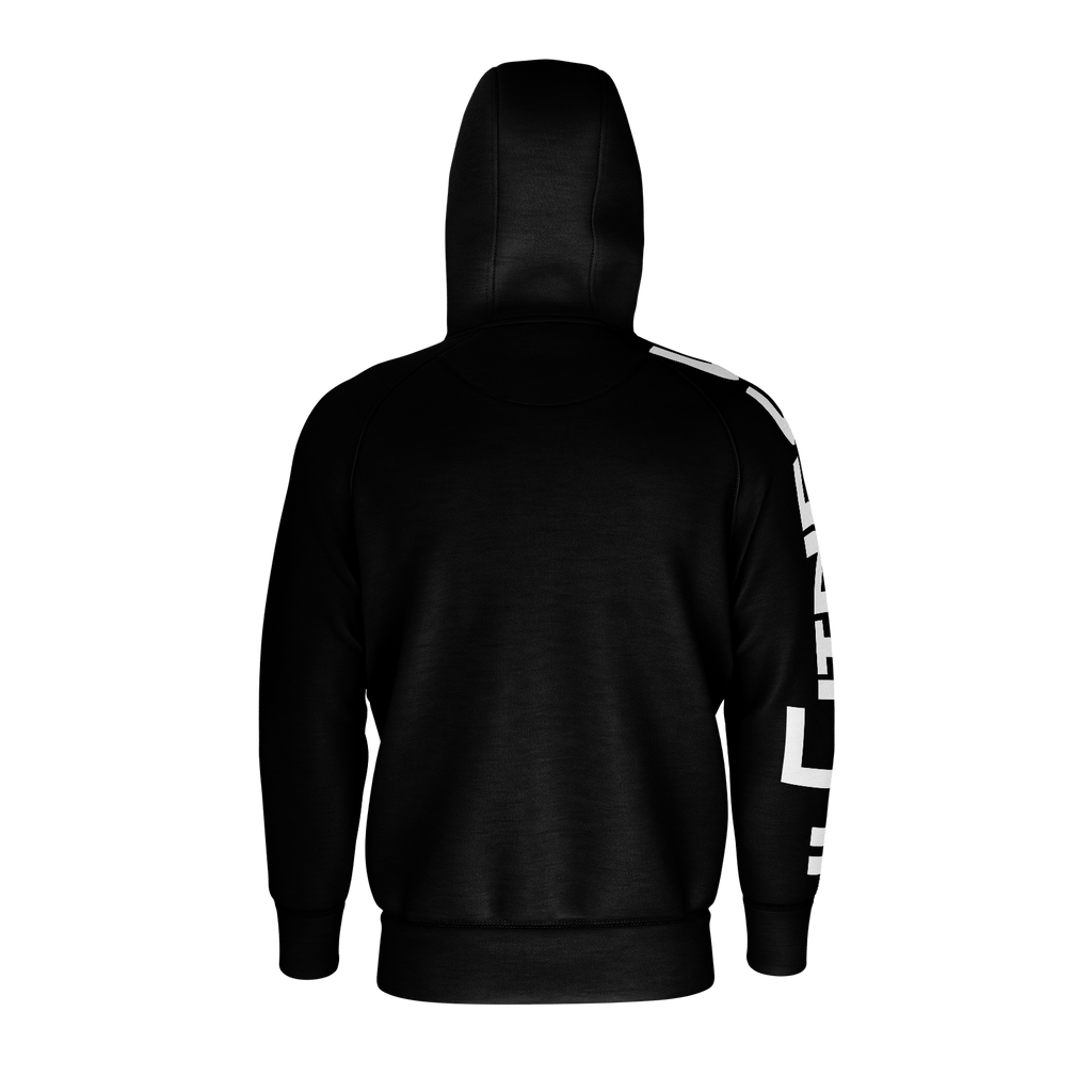 #Fitness Men's Raglan Zip Hoodie 260GSM Cotton (Black)