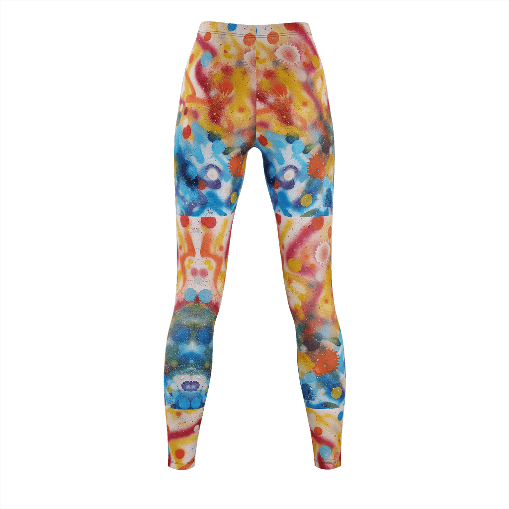 Bringing Life Spray Painting Leggings
