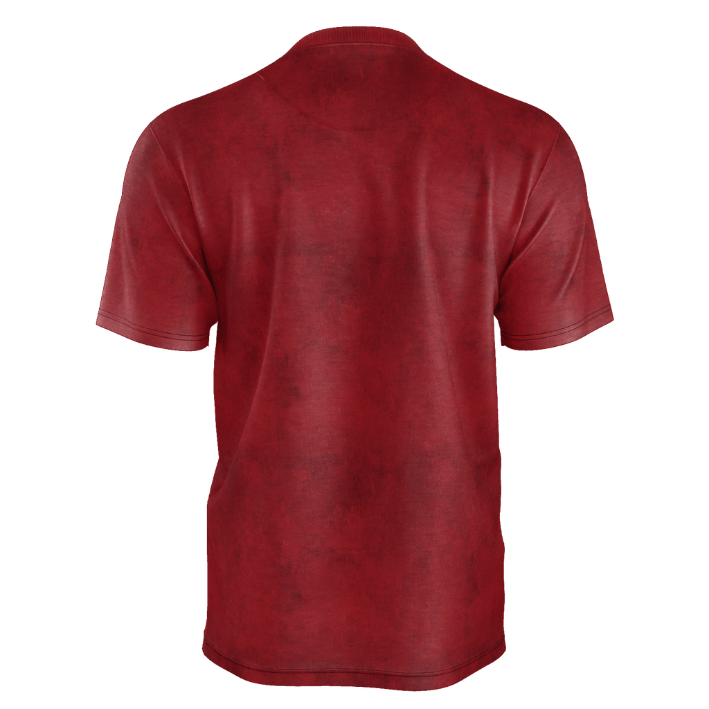 Men's red logo shirt - recycled poly