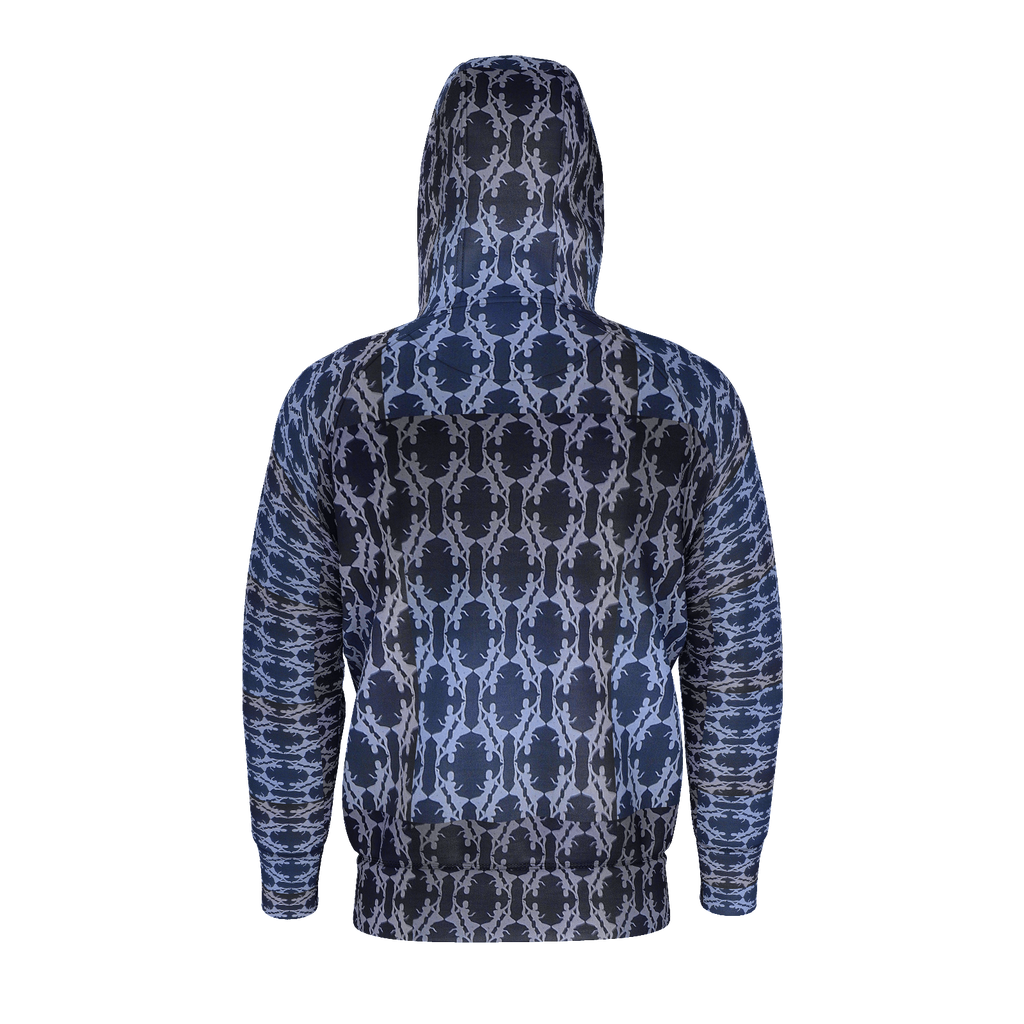 Teal Tile Hoddie with Zipper