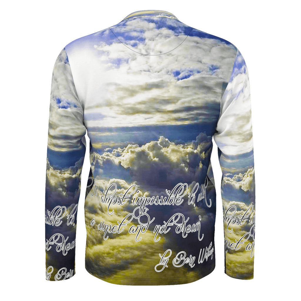Above the Clouds (Quote) Men's Long Sleeve SJ T-Shirt