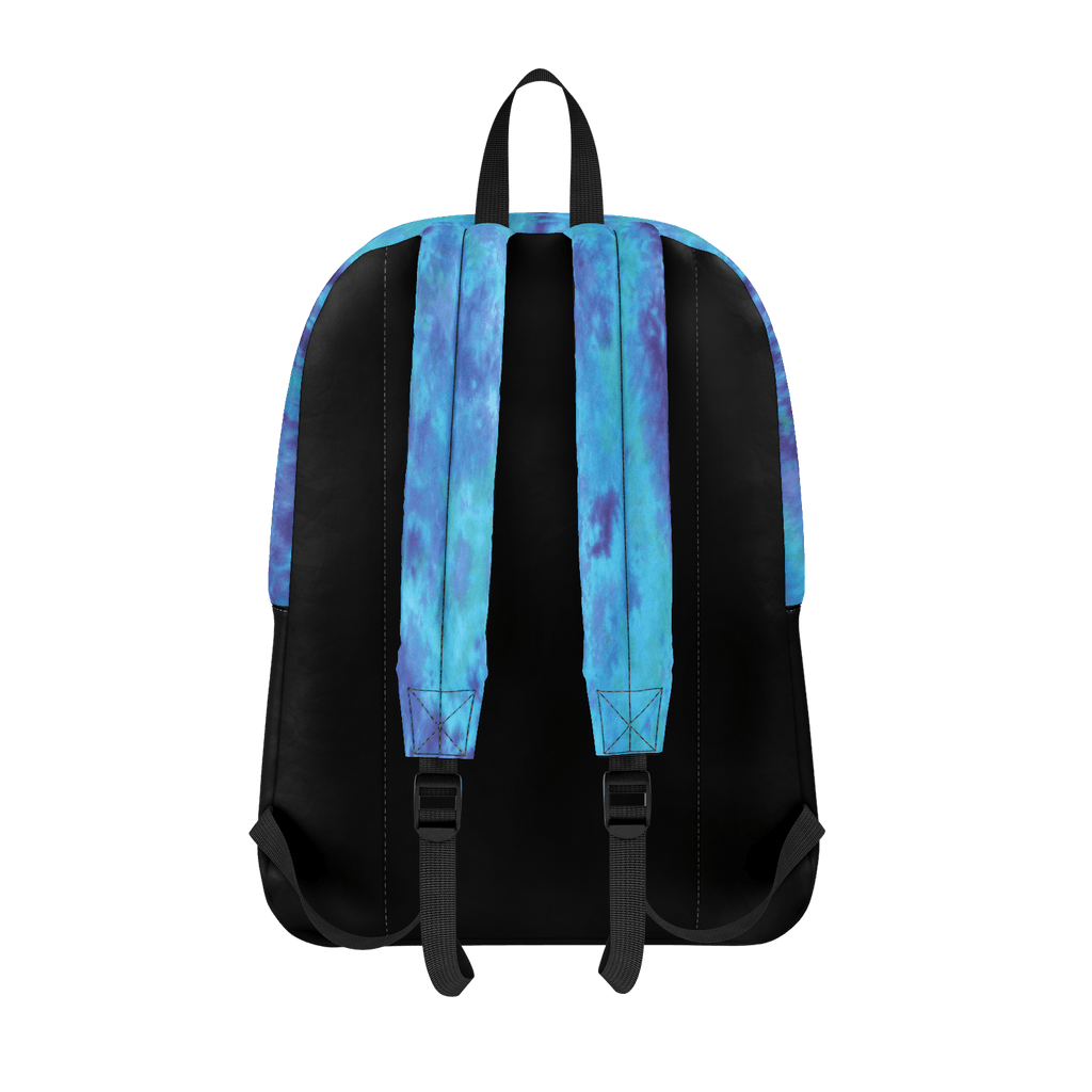 Tiedye Blue and Black Peak Backpack