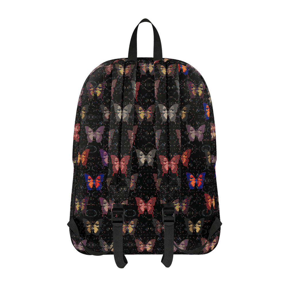 Butterfly Pattern Black Background - Standard Backpack