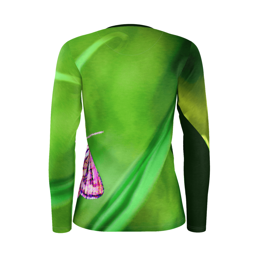 BFly on Grass Long Sleeve Top