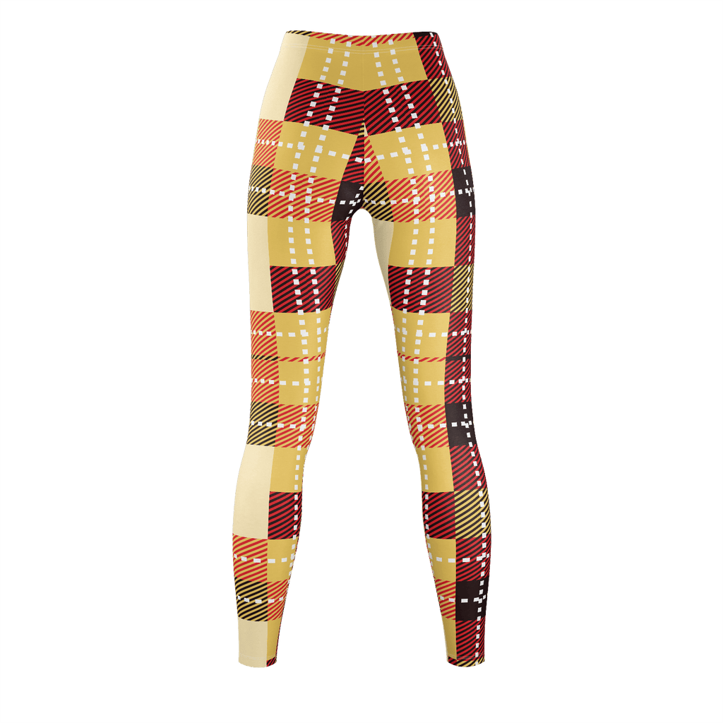 Plaid White Stitch Yellow And Brown Lumberjack Flannel