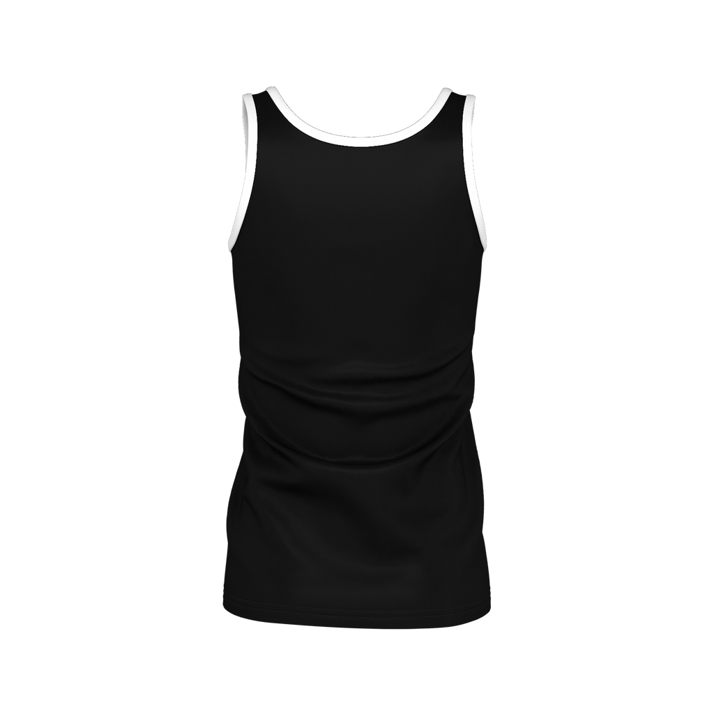 White Logo Girl's Tanktop (Black)