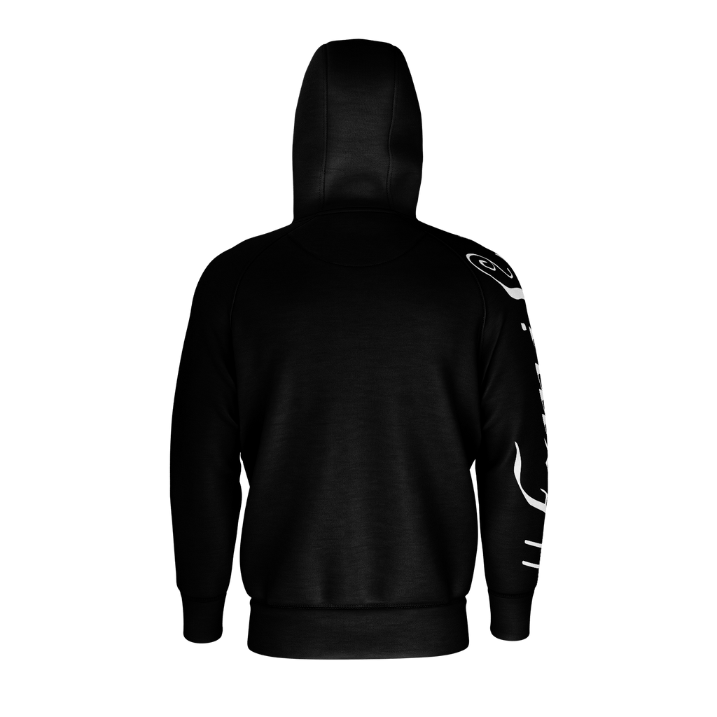 #Family Men's Raglan Zip Hoodie 260GSM Cotton (Black)