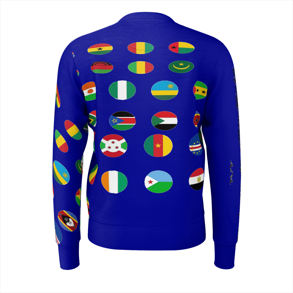 Maison de DuBois N.O.A. (Nations of Africa) Flaggin' Crew Neck Sweatshirt