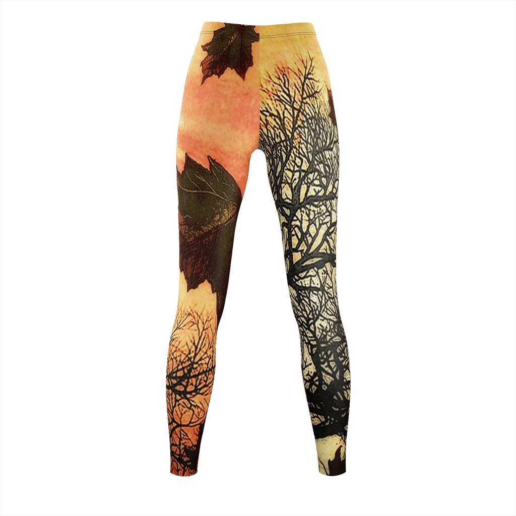 Caracal Autumn Leaves Leggings
