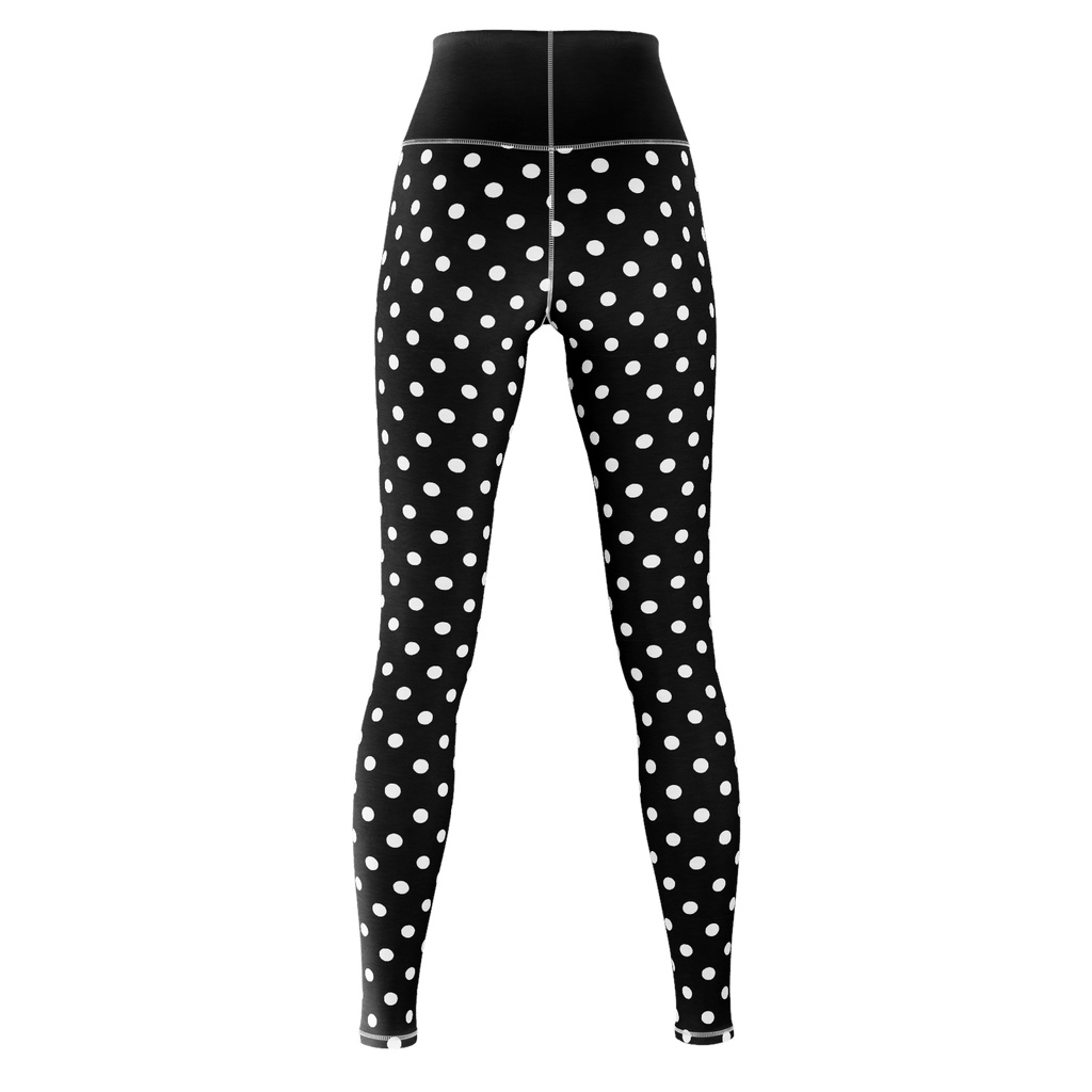 Polka Dot Yoga - Black
