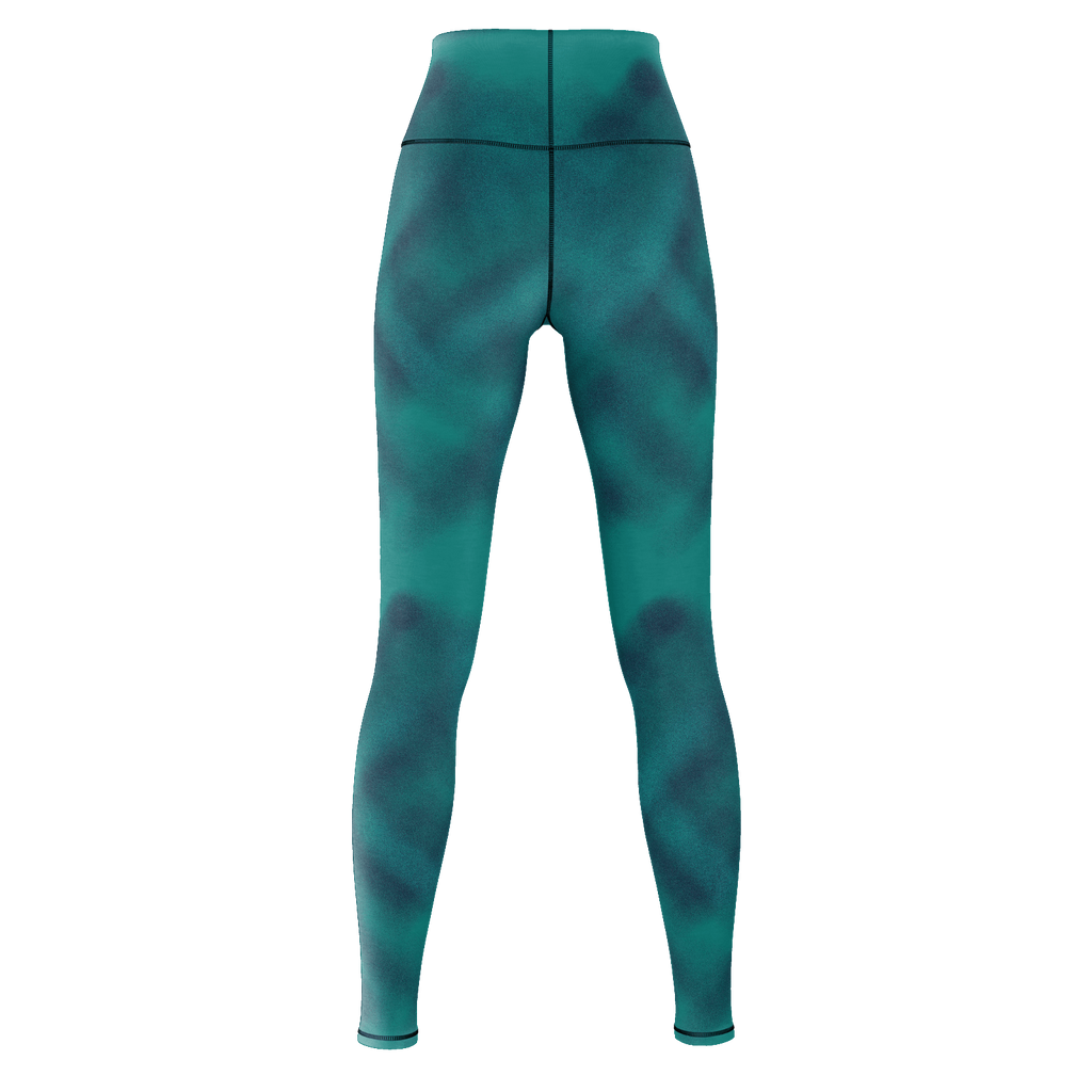 Blue Brushed Art Yoga Pants
