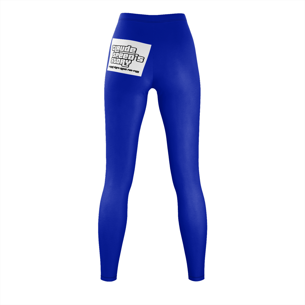 Claude Speed Story Indigo Leggings Polyester