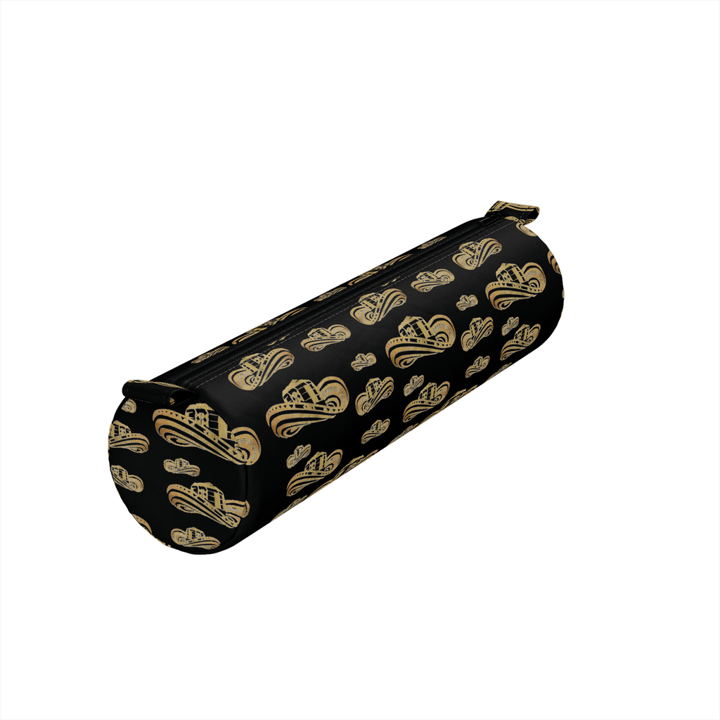 Sombrero Vueltiao in Gold Leaf (Black) - Pencil Case