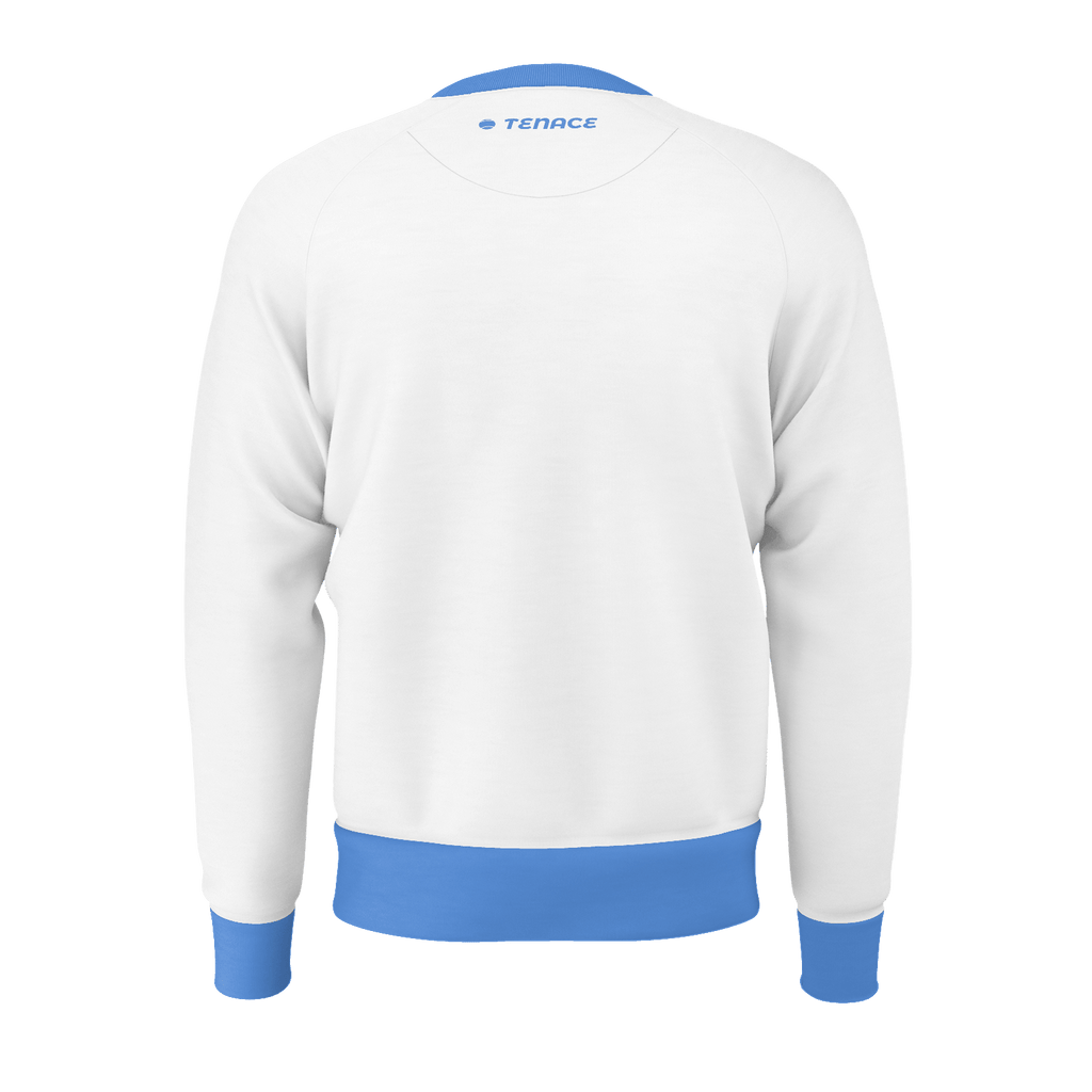 Men's Sweatshirt - White/Red/Royal collar