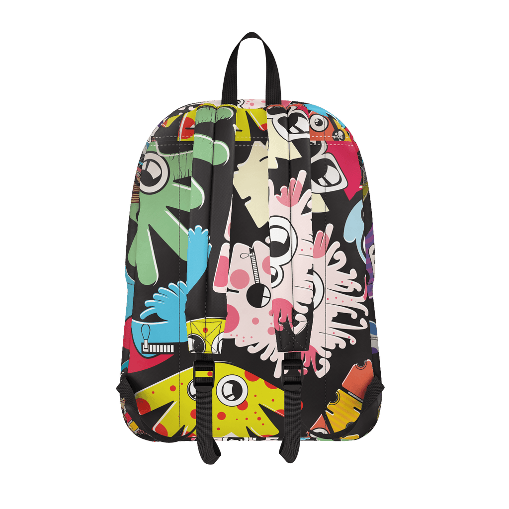 School Bus Aliens Backpack 5