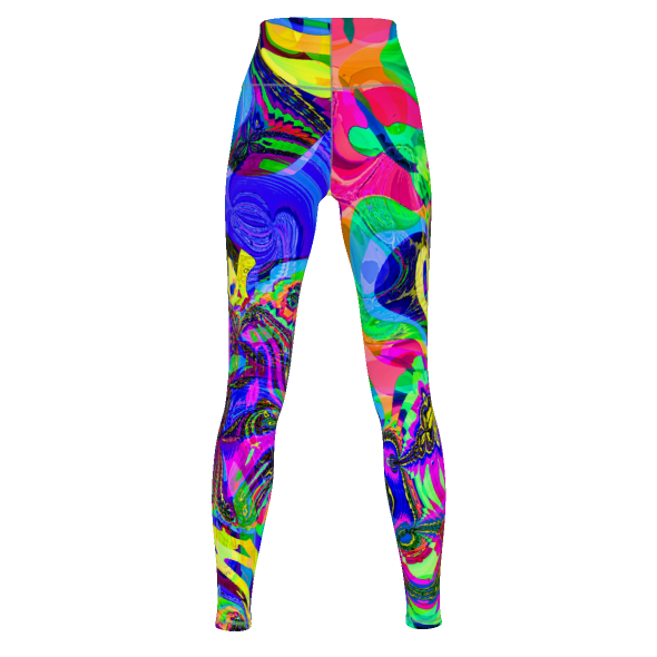 Colorful Maze - Yoga Pants