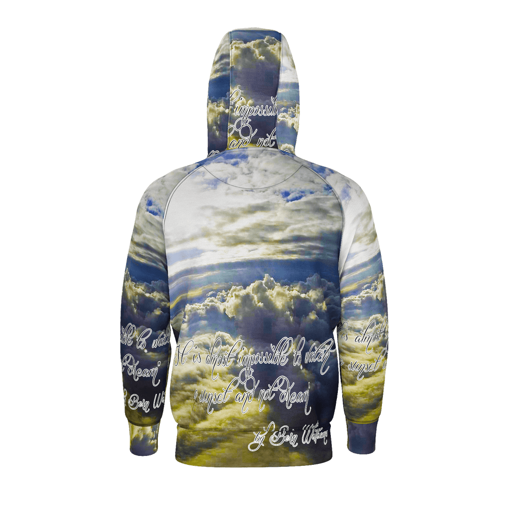 Above the Clouds (Quote) Men's Raglan Zip Hoodie 260GSM Cotton